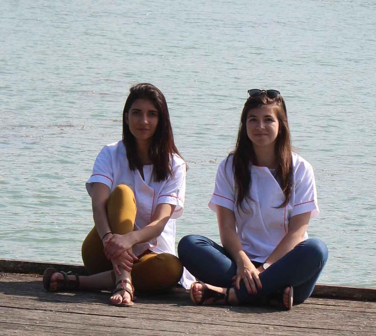2 étudiantes en soins infirmiers de troisième année en stage en Belgique avec le programme ERASMUS